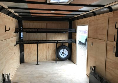 enclosed trailer inside