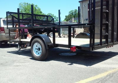 flatbed being attached to hitch