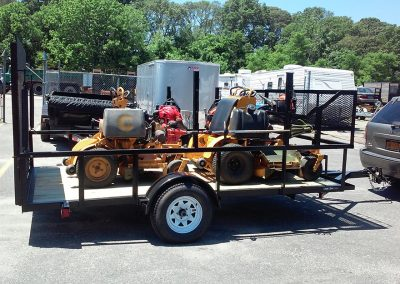 machinery on flatbed