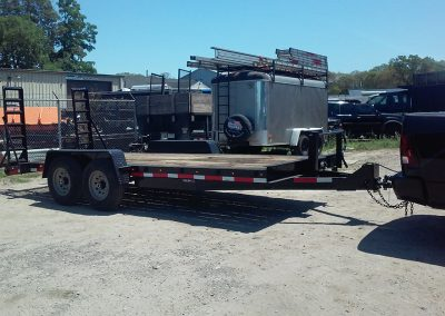 Trailer on a hitch