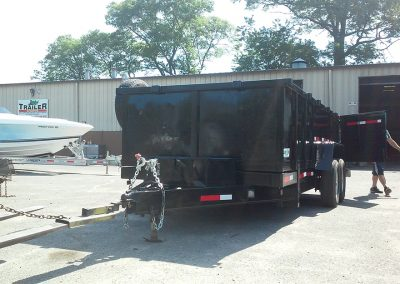black dump trailer with hitch