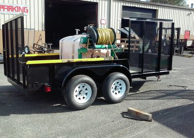 trailer with equipment